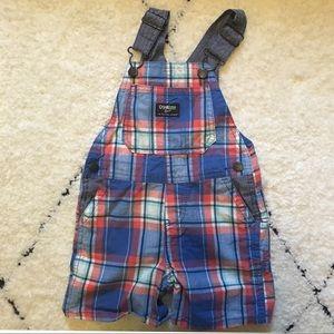 Oshkosh plaid overalls